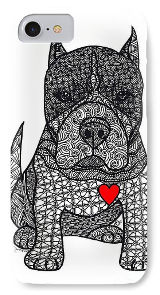 Devotion- American Pitbull Terrier IPhone Case