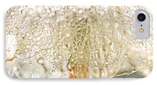 Dew Drops On Dandelion Phone Case by Peggy Collins