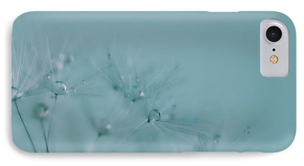 Dew Drops On Dandelion Seeds IPhone Case by Marianna Mills