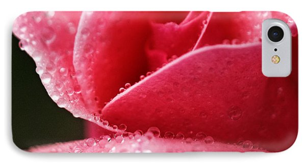 IPhone Case featuring the photograph Dew Drops On Pink by Rebecca Davis