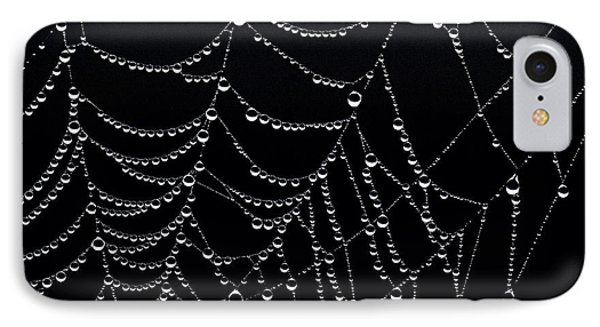 Dew Drops On Web 2 IPhone Case by Marty Saccone