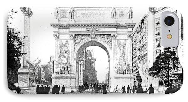 Dewey Arch Monument New York City 1900 IPhone Case by A Gurmankin