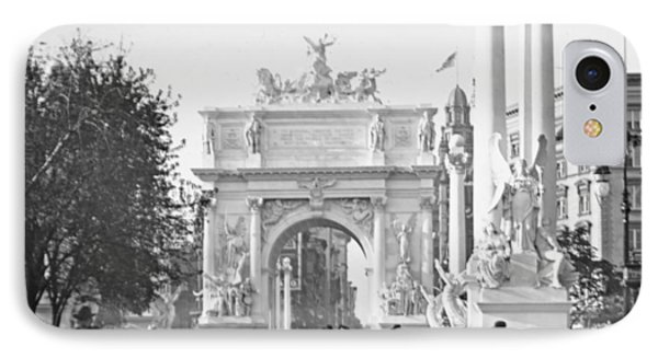 Dewey's Arch Monument Madison Square New York 1900 IPhone Case by A Gurmankin