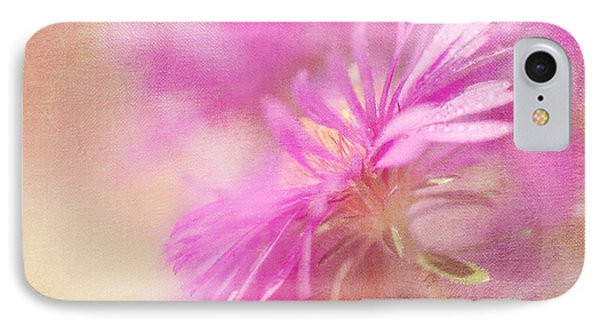 Dewy Pink Asters Phone Case by Lois Bryan