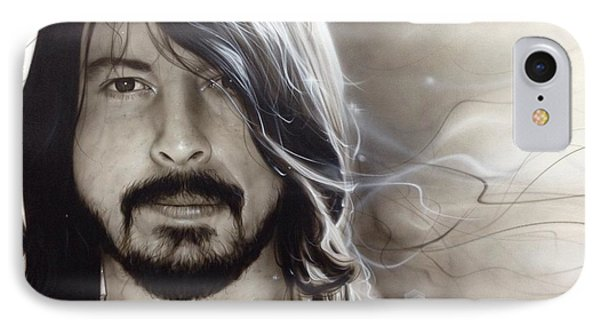David Grohl - ' D. G. ' IPhone Case by Christian Chapman Art