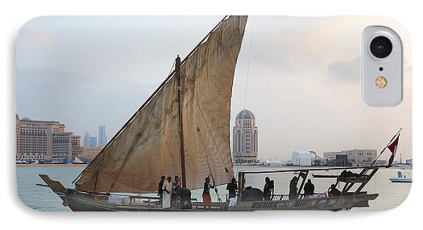 Dhow And Hotels IPhone Case by Paul Cowan