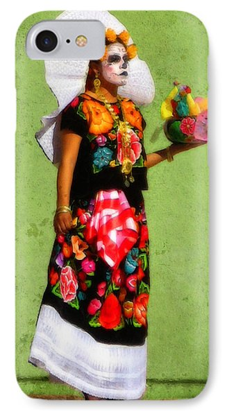 IPhone Case featuring the photograph Dia De Los Muertos Dancer 3 by Timothy Bulone