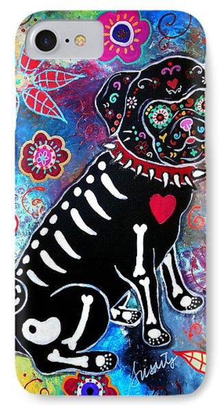 Dia De Los Muertos Pug IPhone Case