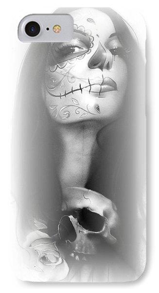 Sugar Skull - ' Dia De Los Muertos Rachel ' IPhone Case