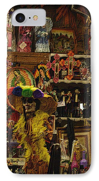 Dia De Muertos Shop IPhone Case by Nadalyn Larsen
