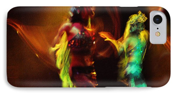 Diabolic. Passionate Dance Of The Night Angels Phone Case by Jenny Rainbow