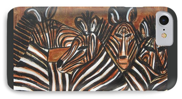 Zebra Bar Crowd IPhone Case by Diane Pape