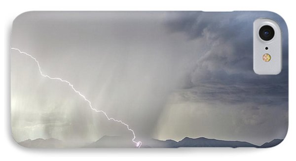Diagonal Lightning Strike IPhone Case by Roger Hill
