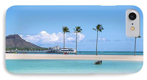 Diamond Head And The Hilton Lagoon 3 To 1 Aspect Ratio IPhone Case