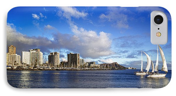 IPhone Case featuring the photograph Diamond Head Sail Boat by Aloha Art