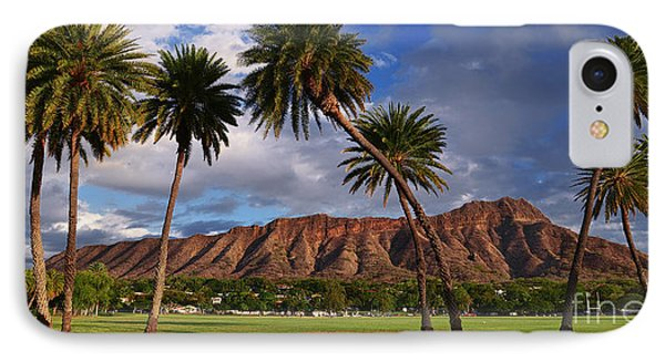 IPhone Case featuring the photograph Diamond Head State Monument Before Sunset by Aloha Art