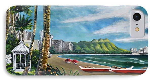 Diamond Head Waikiki IPhone Case