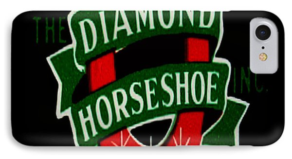 IPhone Case featuring the digital art Diamond Horseshoe by Cathy Anderson