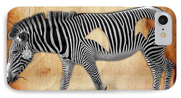 Diamond In The Rough Zebra. Spot The Diamond. IPhone Case by Marvin Blaine