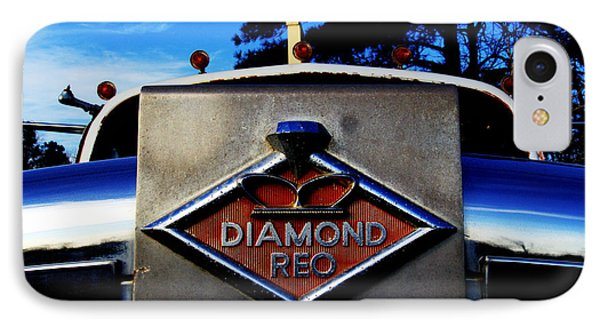 IPhone Case featuring the photograph Diamond Reo Hood Ornament by Bartz Johnson