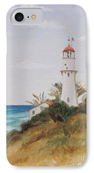 IPhone Case featuring the painting Diamondhead Lighthouse by Jimmie Bartlett