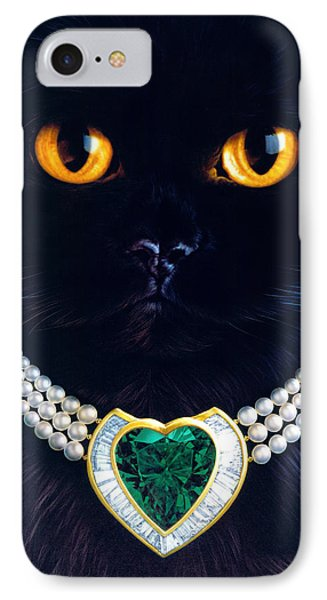 Diamonds Are A Cats Best Friend Phone Case by Andrew Farley