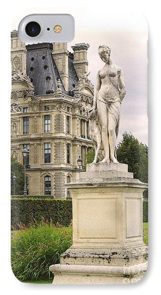 Diana Huntress Tuileries Garden IPhone Case by Victoria Harrington