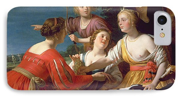 Diana Resting After The Hunt Oil On Canvas IPhone Case by Gerrit van Honthorst