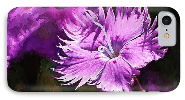 IPhone Case featuring the photograph Dianthus by Ludwig Keck