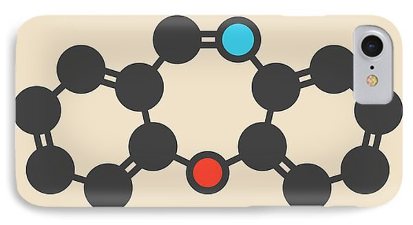 Dibenzoxazepine Tear Gas Molecule IPhone Case by Molekuul