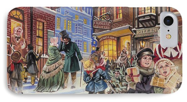 Dickensian Christmas Scene IPhone Case