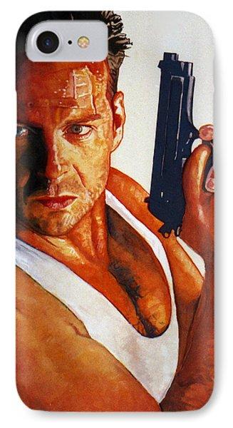 Die Hard Phone Case by Michael Haslam
