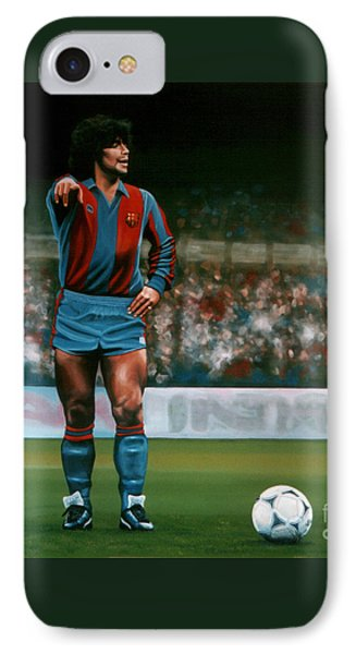 Barcelona iPhone 7 Case - Diego Maradona by Paul Meijering