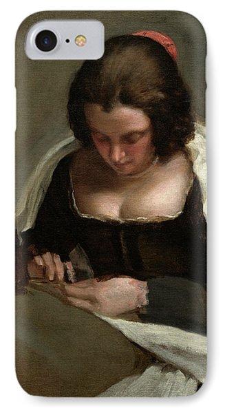 Diego Velázquez Spanish, 1599 - 1660, The Needlewoman IPhone Case