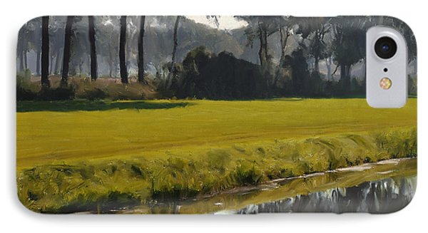 Diessen Baarschot River Landscape IPhone Case by Nop Briex
