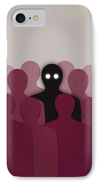 Different And Alone In Crowd IPhone Case