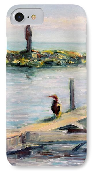 IPhone Case featuring the painting Different Views by Mary Schiros