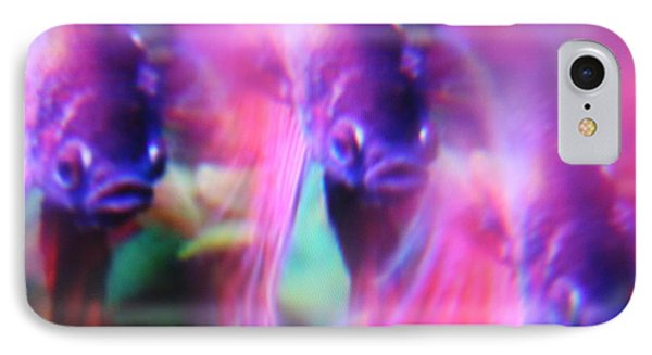Digital Abstract With Fish 6 IPhone Case