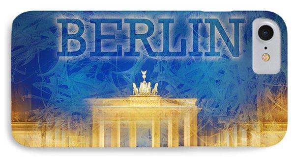 Digital-art Brandenburg Gate II Phone Case by Melanie Viola
