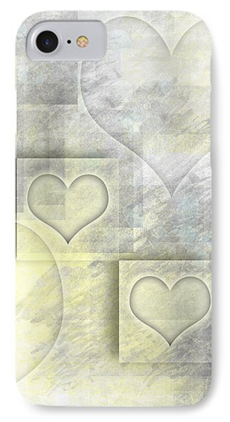 Digital-art Hearts II IPhone Case by Melanie Viola