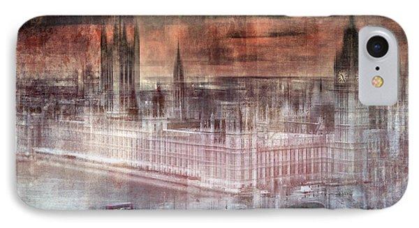 Digital-art London Westminster II IPhone Case by Melanie Viola