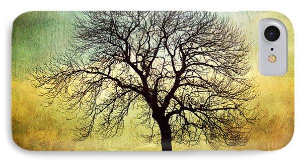 Digital Art Tree Silhouette Phone Case by Natalie Kinnear