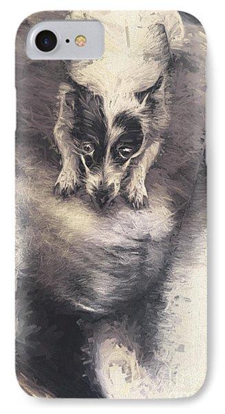Digital Artwork Of A Mini Fox Terrier Dog IPhone Case
