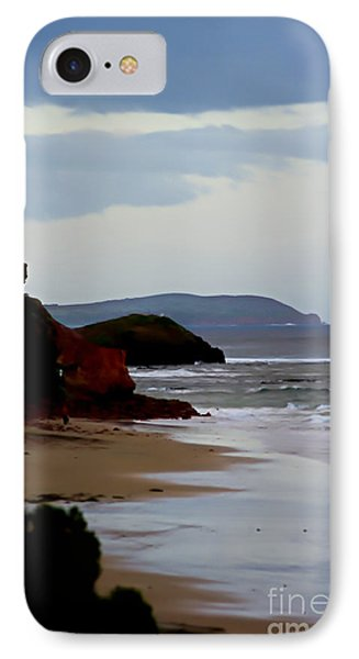 Digital Painting Of Smiths Beach IPhone Case by Blair Stuart