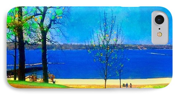 #digitalart #landscape #beach #park IPhone Case