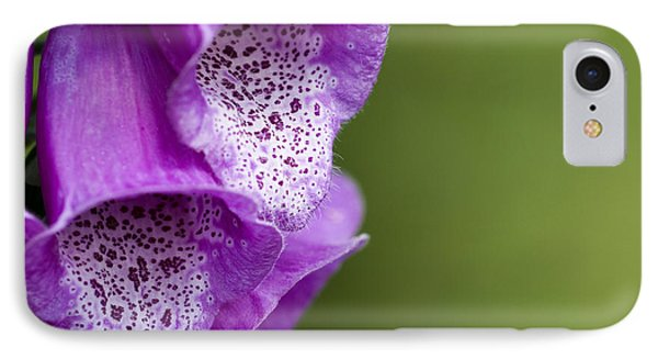 Digitalis Abstract Phone Case by Anne Gilbert