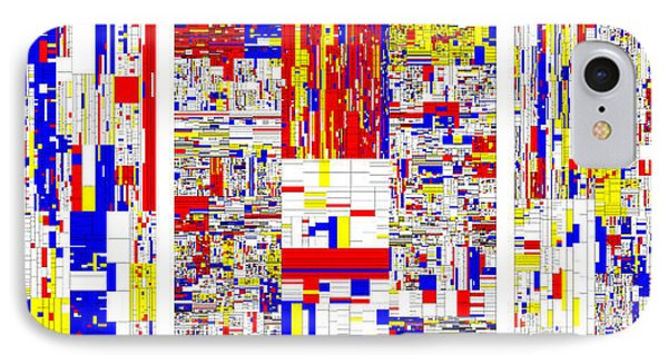 Digits Of Pi Phi And E In A 6 Level Treemap Phone Case by Martin Krzywinski