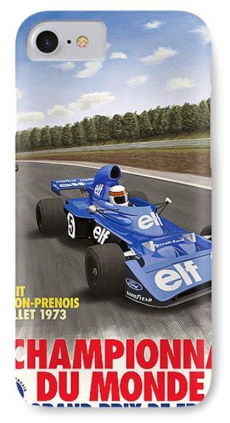 Dijon Prenois French Grand Prix 1973 IPhone Case by Georgia Fowler
