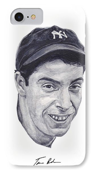 IPhone Case featuring the painting Dimaggio by Tamir Barkan