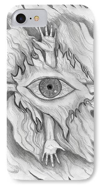 IPhone Case featuring the drawing Dimension 4 by Roz Abellera Art
